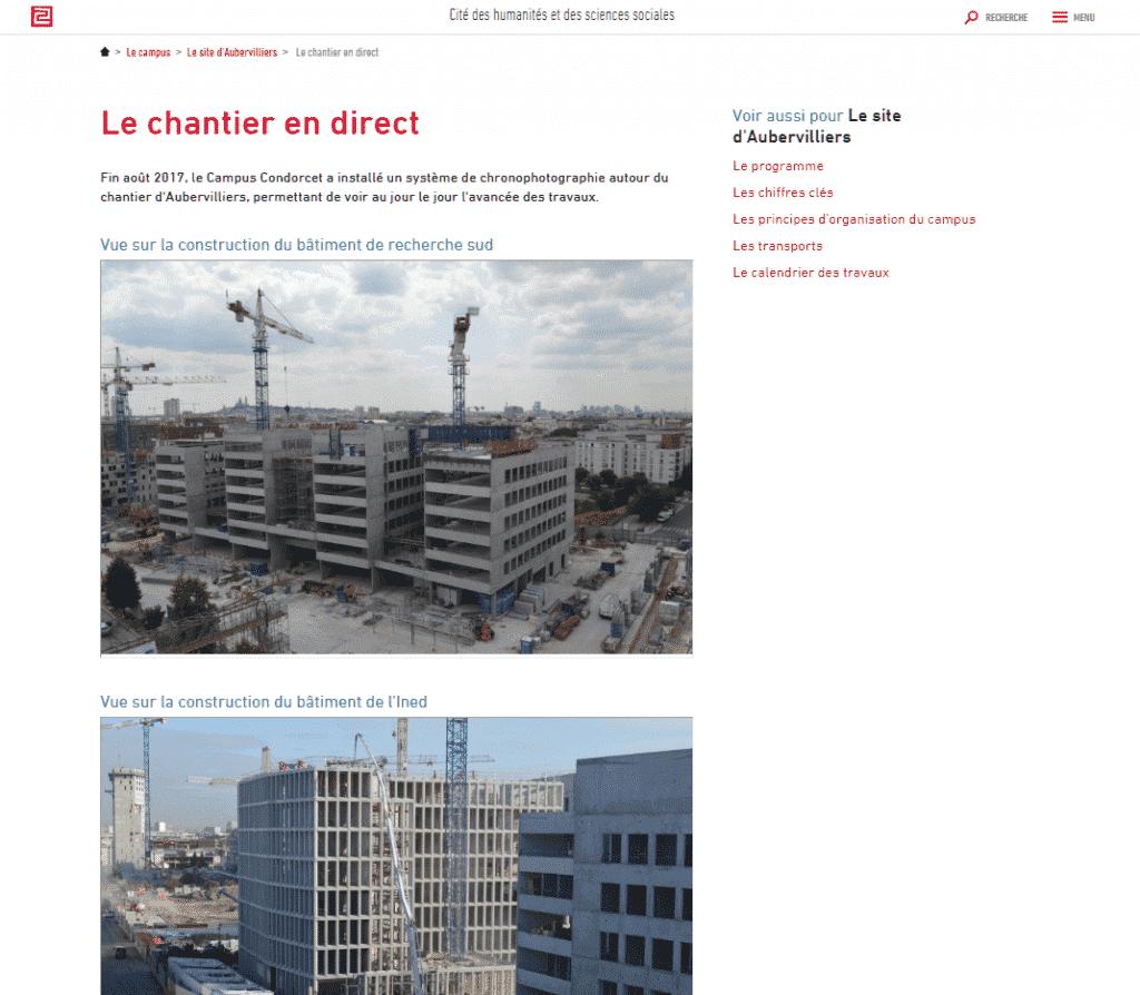 Condorcet suivi chantier timelapse