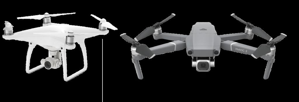 Drone utilisé par timelapse go DJI phantom 4 & Mavic 2 pro