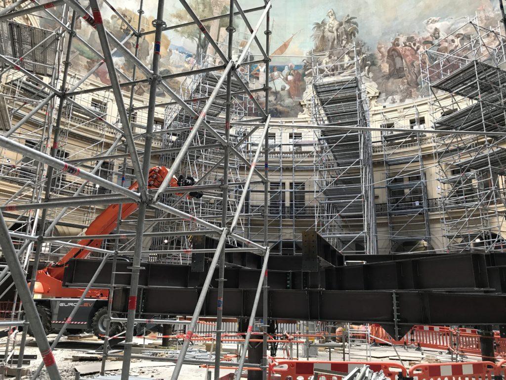 Photographie de l'échafaudage de la Bourse de commerce - Collection Pinault